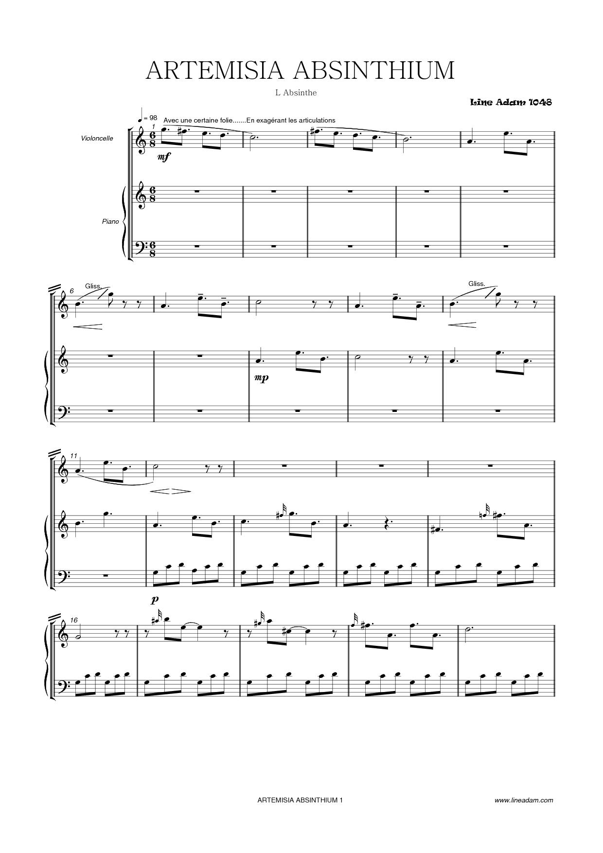 artemisa-absinthium score